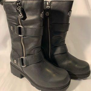 Harley-Davidson women black leather boots size 5